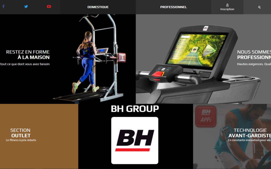 La nouvelle version du SITE WEB de BH Fitness